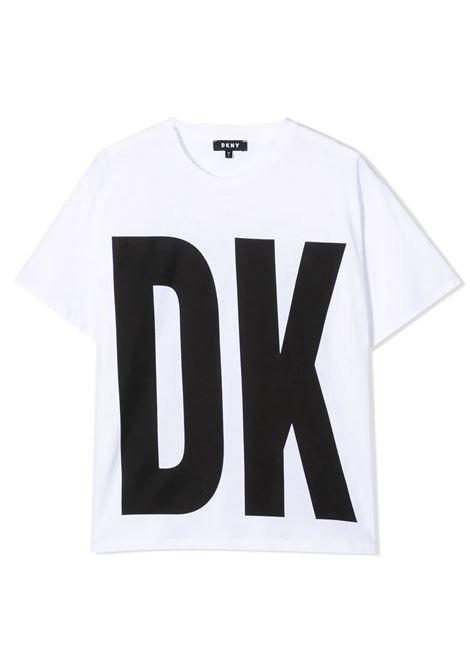 T-SHIRT CON STAMPA DKNY KIDS | T-shirt | D35R32T10B