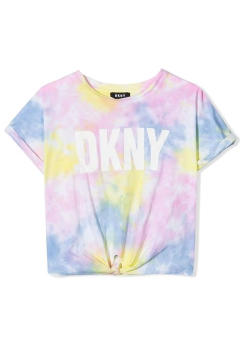 T-SHIRT CON FANTASIA TIE DYE DKNY KIDS | T-shirt | D35R34Z40