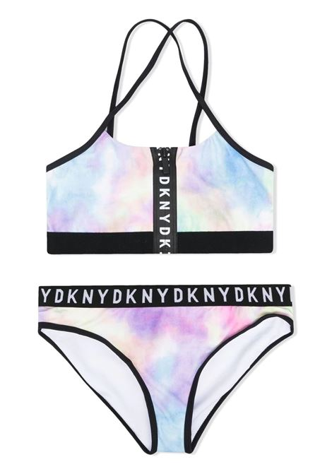 TWO-PIECE SWIMSUIT WITH TIE DYE FANTASY DKNY KIDS | Swimsuits | D37104TZ40
