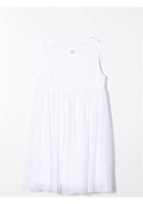 WHITE SLEEVELESS DRESS DOUUOD JUNIOR | TA40 1228T0101