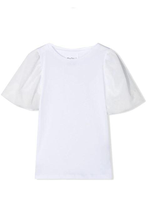 T-SHIRT CON MANICHE IN TESSUTO DOUUOD JUNIOR | T-shirt | TE20 1228T0101