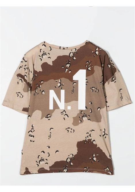 T-SHIRT CON STAMPA CAMOUFLAGE DOUUOD JUNIOR | TE60 12110125