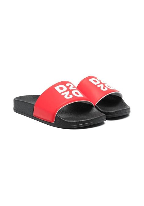 SLIPPERS WITH PRINT DSQUARED2 JUNIOR | Slippers | 670921