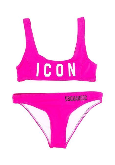BIKINI WITH ICON PRINT DSQUARED2 JUNIOR | Swimsuits | D2M48F-ICON-DQ0275-D000VDQ313