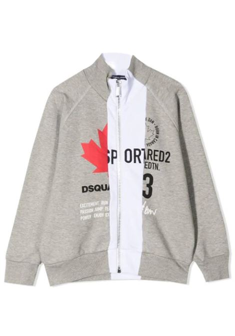 LOGO PRINT ZIPPED SWEATSHIRT DSQUARED2 JUNIOR | Sweatshirts | D2S425U-DQ0005-D004MTDQ911