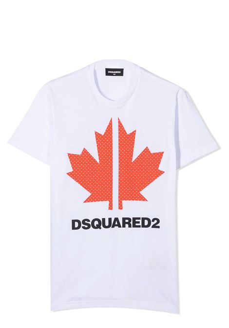 LOGO PRINT T-SHIRT DSQUARED2 JUNIOR | T-shirt | D2T570U-DQ0028-D004GDQ10N