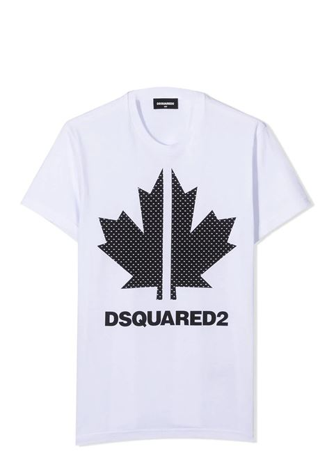 LOGO PRINT T-SHIRT DSQUARED2 JUNIOR | T-shirt | D2T570U-DQ0028-D004GTDQ100