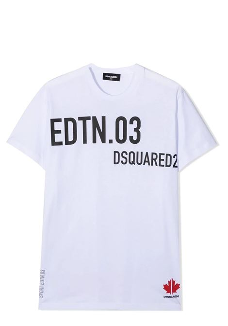 LOGO PRINT T-SHIRT DSQUARED2 JUNIOR | T-shirt | D2T585U-DQ0030-D00MMDQ100