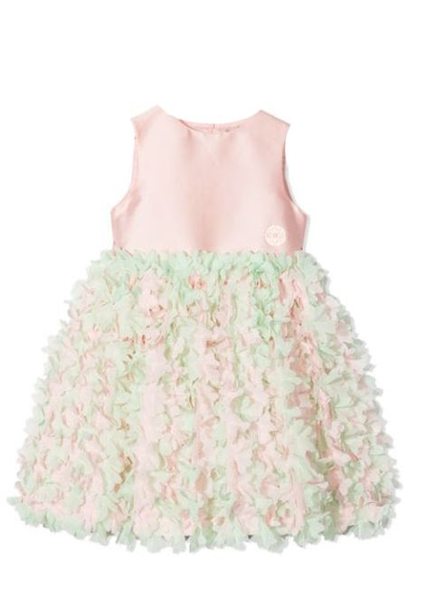 SLEEVELESS DRESS WITH RUCHES ELIE SAAB JUNIOR | Newborn jumpsuits | 3O1061 OB960515VE