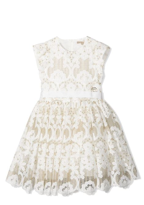 LACE DRESS WITH BOW ELIE SAAB JUNIOR | Dress | 3O1162 OB940100OR