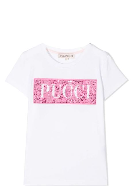 T-SHIRT WITH GLITTER PRINT EMILIO PUCCI | T-shirt | 9O8021 OX330T100