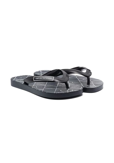 FLIP FLOPS WITH PRINT EMPORIO ARMANI KIDS | Slippers | 1XYQS01 XOZ14TN527