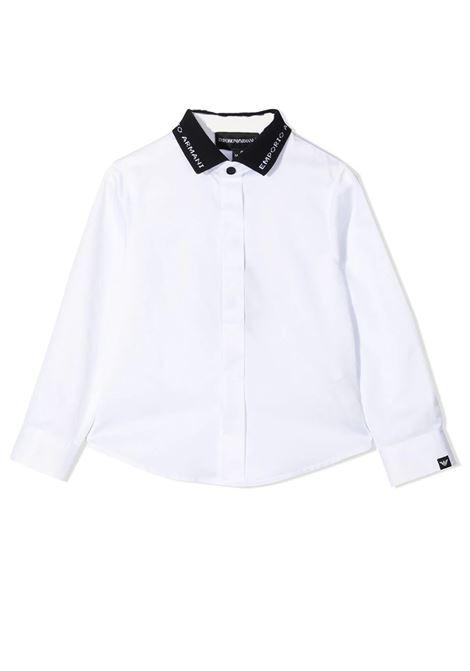 SHIRT WITH CONTRASTING COLLAR EMPORIO ARMANI KIDS | Shirt | 3K4CP8 1NXRZ0100