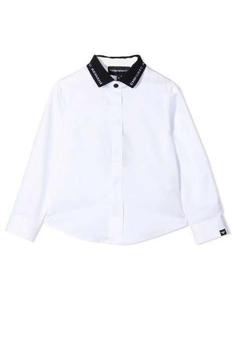 SHIRT WITH CONTRASTING COLLAR EMPORIO ARMANI KIDS | Shirt | 3K4CP8 1NXRZT0100
