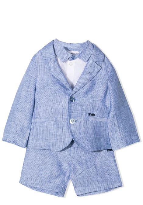 COMPLETE BERMUDA, SHIRT AND JACKET EMPORIO ARMANI KIDS | Suits | 3KH801 4N50ZF909