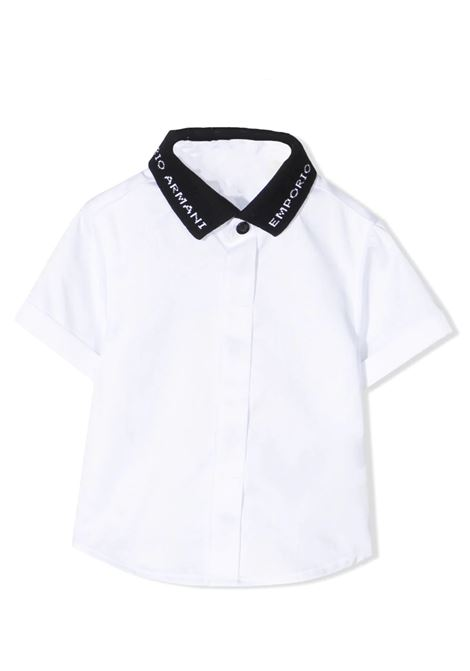 SHIRT WITH CONTRASTING COLLAR  EMPORIO ARMANI KIDS | Shirt | 3KHC08 1NXRZ0100