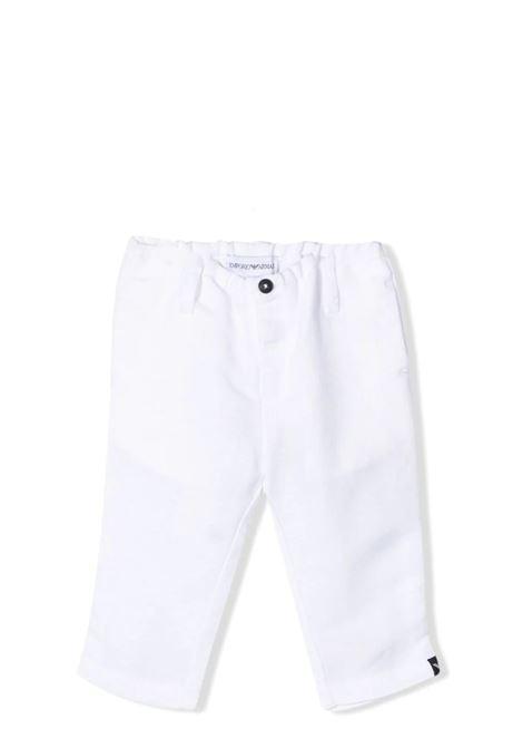 WHITE TROUSERS EMPORIO ARMANI KIDS | Trousers | 3KHP07 1NWZZ101