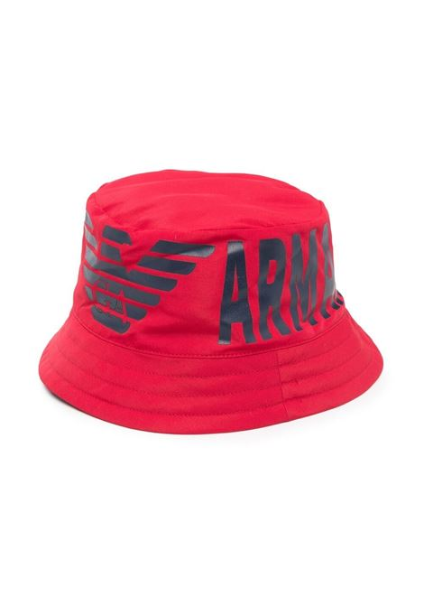 BUCKET HAT WITH PRINT EMPORIO ARMANI KIDS | Hats | 404392 1P44713974
