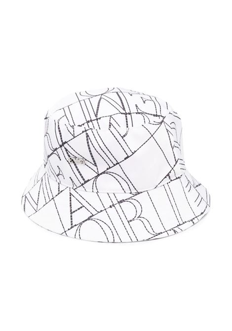 BUCKET HAT WITH PRINT EMPORIO ARMANI KIDS | Hats | 404630 1P48541510 BIANCO
