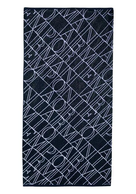 BEACH TOWEL WITH PRINT EMPORIO ARMANI KIDS | 408509 1P21977435