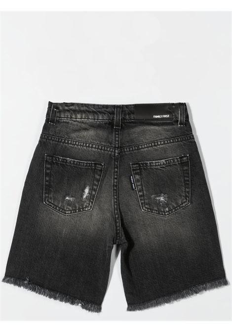 Shorts denim con effetto schiarito FAMILY FIRST KIDS | KJS2116BK02