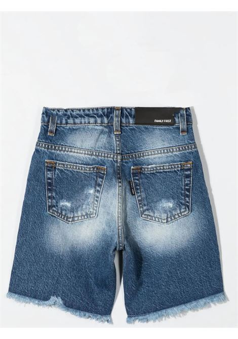 Shorts denim con effetto schiarito FAMILY FIRST KIDS | KJS2117BU06