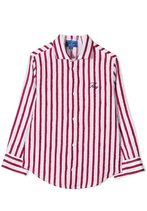 STRIPED SHIRT FAY KIDS | Shirt | 5O5070 OB320T100RO
