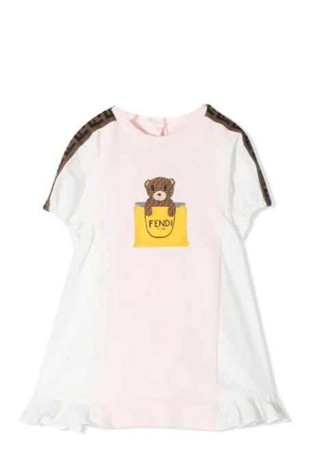 DRESS WITH PRINT FENDI KIDS | Dress | BFB347 AEYZF0C11