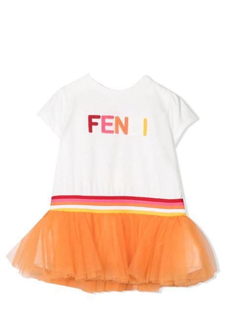 Little girl dress with tulle FENDI KIDS | Dress | BFB361 AEY6F0TU9