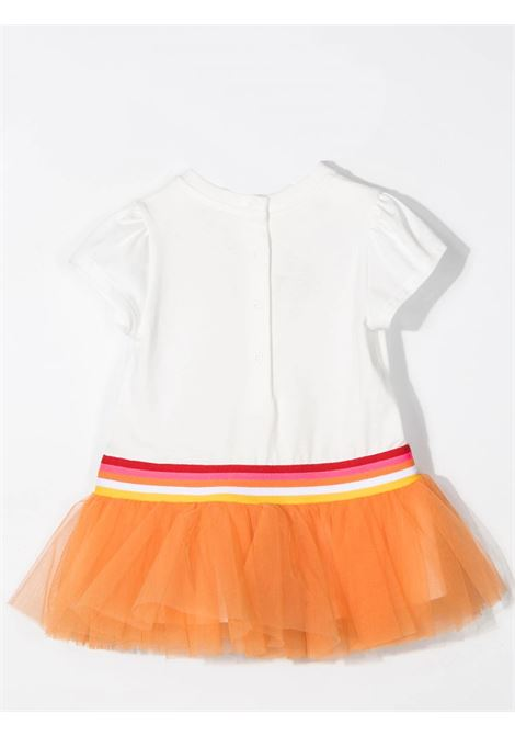 Little girl dress with tulle FENDI KIDS | BFB361 AEY6F0TU9