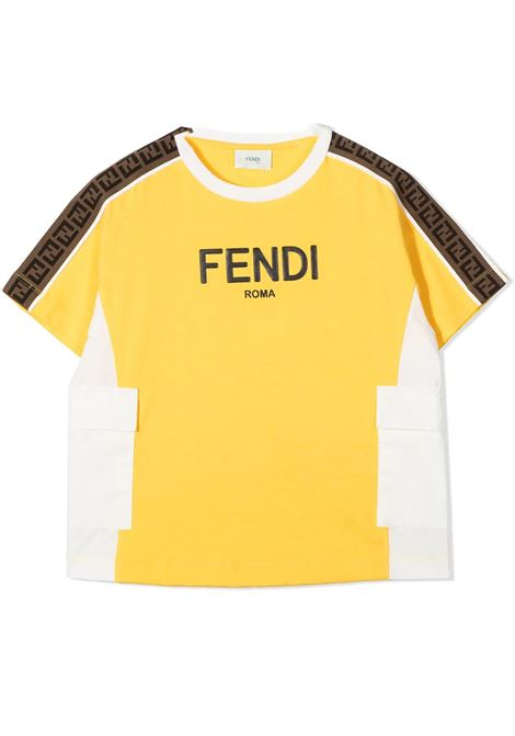 T-SHIRT WITH PRINT FENDI KIDS | T-shirt | JMI355 AEXLF1BW2