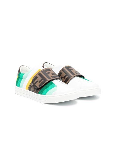 SNEAKERS CON CHIUSURA A STRAPPO FENDI KIDS | Sneakers | JMR361 AEGJF1D0Z