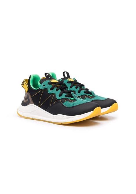 Child sneakers with color-block design FENDI KIDS | Sneakers | JMR362 AEGQF1D16