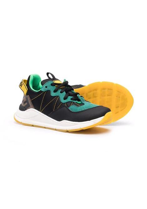 Child sneakers with color-block design FENDI KIDS | JMR362 AEGQTF1D16