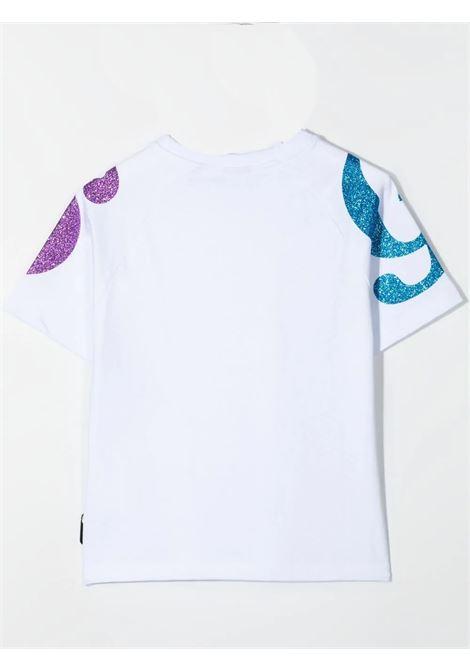 Little girl t-shirt with glitter logo GCDS KIDS | 027669001