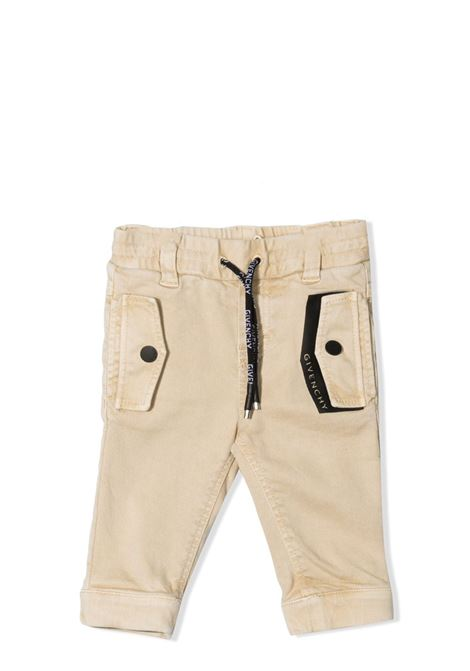 SLIM TROUSERS WITH DRAWSTRING GIVENCHY KIDS | Trousers | H04094249