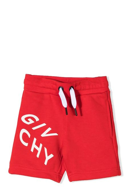 SHORTS SPORTIVI CON STAMPA GIVENCHY KIDS | Bermuda | H04098991