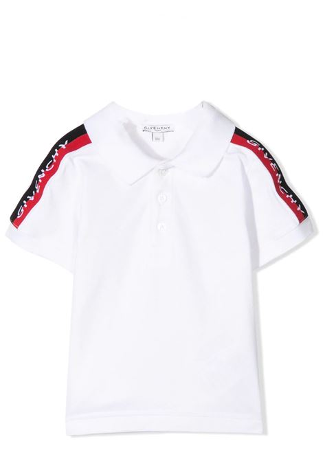 POLO SHIRT WITH BANDS ON THE SLEEVES GIVENCHY KIDS | Polo | H0516010B