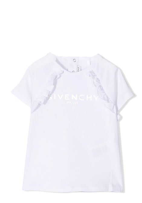 T-SHIRT WITH RUCHES GIVENCHY KIDS | T-shirt | H0516810B