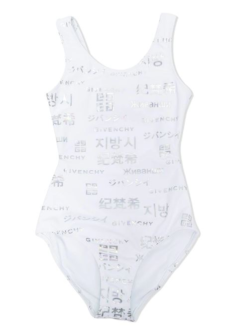 ONE PIECE SWIMSUIT WITH PRINT GIVENCHY KIDS | Swimsuits | H10038Z41
