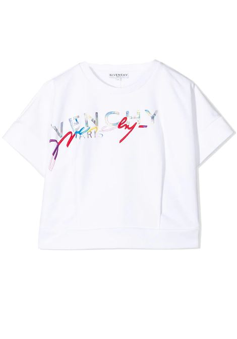 HALF SLEEVE SWEATSHIRT GIVENCHY KIDS | Sweatshirts | H1519610B