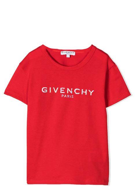 T-SHIRT CON STAMPA GIVENCHY KIDS | T-shirt | H15199991