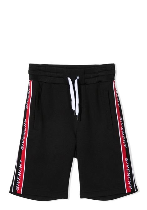 SHORTS SPORTIVI CON COULISSE GIVENCHY KIDS | Bermuda | H2412009B