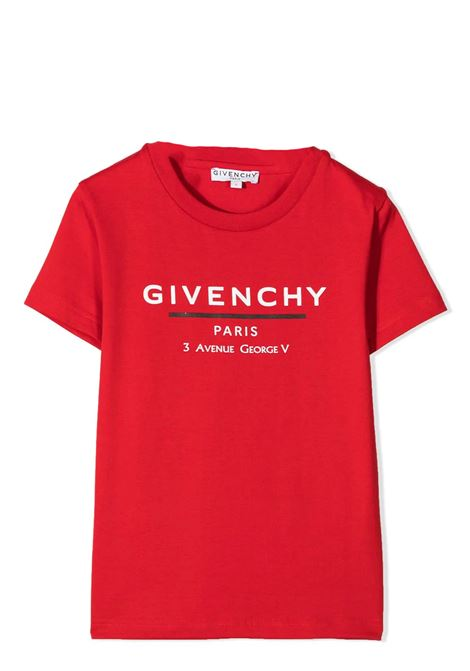 T-SHIRT WITH PRINT GIVENCHY KIDS | T-shirt | H25253991