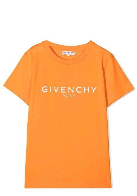 T-SHIRT WITH PRINT GIVENCHY KIDS | T-shirt | H25M4741E