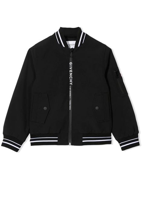 BOMBER WITH LOGO GIVENCHY KIDS | Jacket | H2607109B