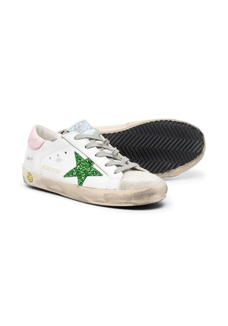 SNEAKERS WITH PINK BACK AND GREEN STAR GOLDEN GOOSE KIDS | GYF00101 F00115910515
