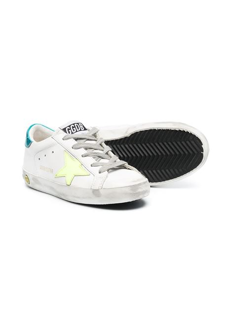 YELLOW RETRO TURQUOISE STAR SNEAKERS GOLDEN GOOSE KIDS | GYF00101 F00117510521