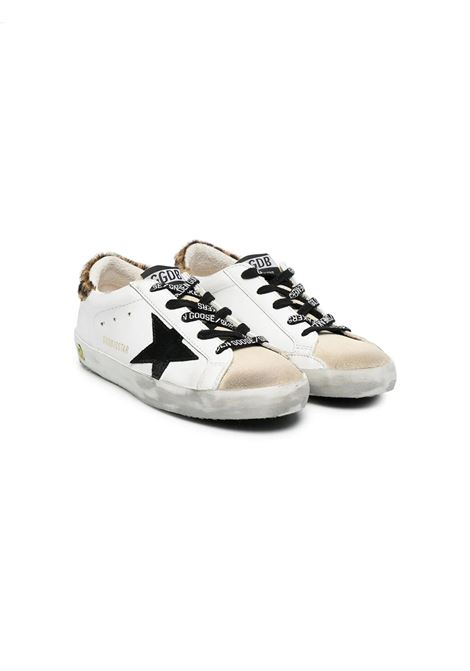 SNEAKERS WITH SPOTTED BACK AND BLACK STAR GOLDEN GOOSE KIDS | Sneakers | GYF00101 F00119880897