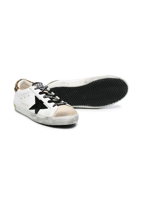SNEAKERS WITH SPOTTED BACK AND BLACK STAR GOLDEN GOOSE KIDS | GYF00101 F00119880897